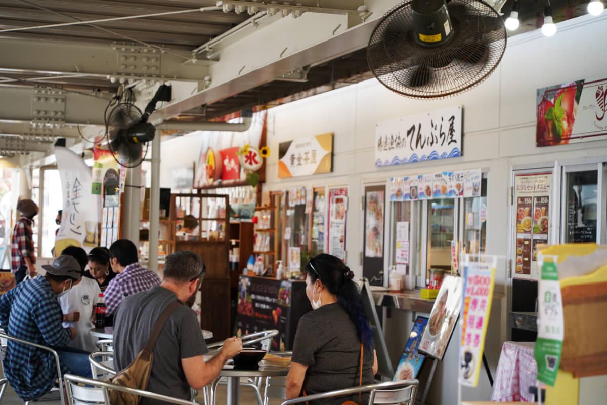 food court and restaurants