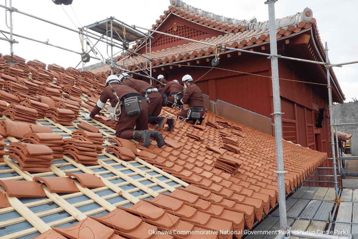 Shurijo_Roof repair work
